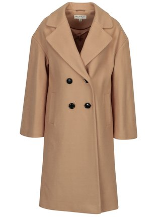 fde7d1d4fe1 Béžový kabát s příměsí vlny Miss Selfridge