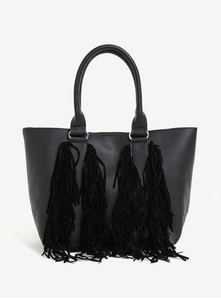 Geanta shopper neagra cu franjuri - Miss Selfridge