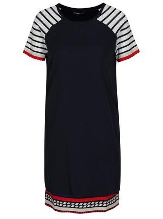 Modré šaty s krátkým rukávem Desigual Evocative