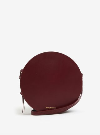 Geanta rotunda crossbody bordo din piele - Royal RepubliQ Galax Round