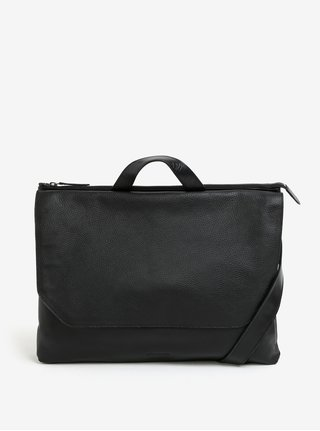 Geanta laptop neagra din piele naturala pentru barbati - Royal RepubliQ Omega