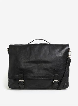 Geanta laptop neagra din piele naturala pentru barbati - Royal RepubliQ Essential