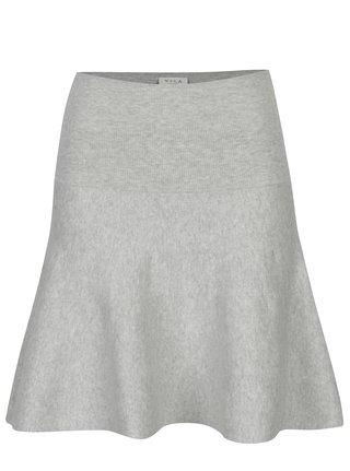 Světle šedá svetrová sukně VILA Bekka
