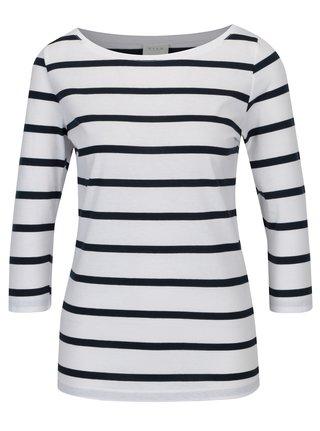 Biele pruhované tričko VILA Striped