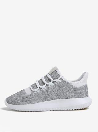 Šedo-bílé pánské žíhané tenisky adidas Originals Tubular