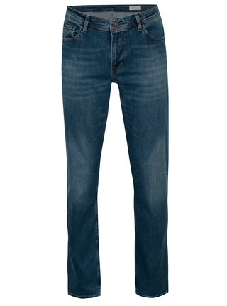 Modré pánske straight fit rifle Cross Jeans Antonio