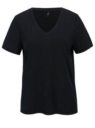 Tmavě modré volné basic tričko ONLY Venus