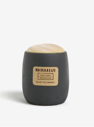 Sviečka v tmavosivej dóze s vôňou čerstvej bavlny Kaemingk