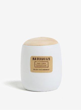 Sviečka v bielej dóze s vôňou čerstvej bavlny Kaemingk