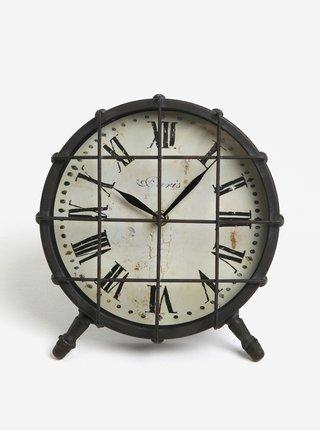 Ceas negru din metal - Kaemingk