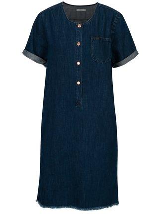Modré rifľová ššaty s gombíkmi Lee Seasonal
