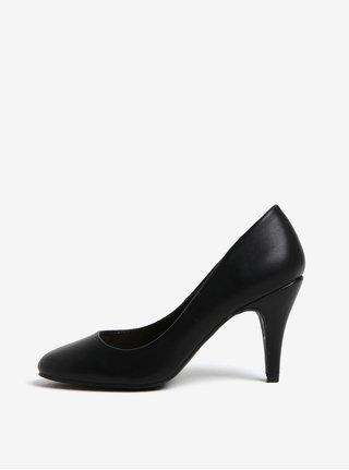 Pantofi negri cu toc si aspect de piele - Dorothy Perkins