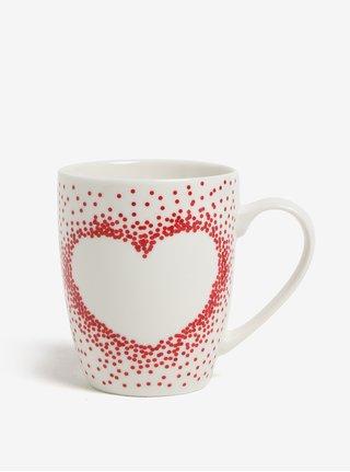 Krémový porcelánový hrnček s motívom srdca Kaemingk