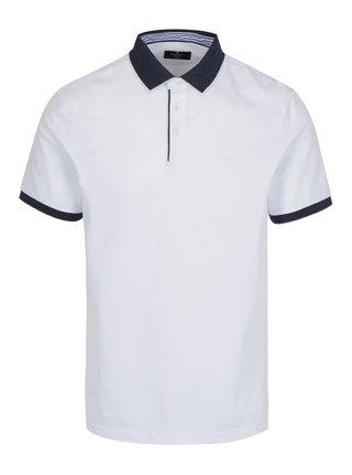 Tricou polo alb - Hackett London Seersucker