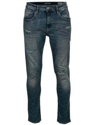 Modré pánské džíny s potrhaným efektem Blend