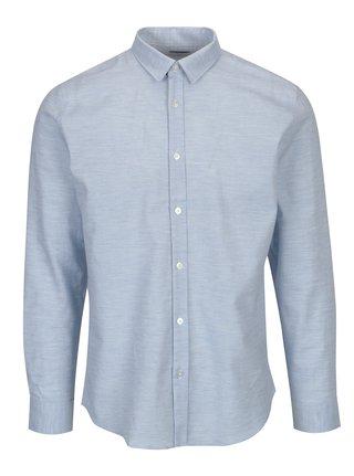 Svetlomodrá vzorovaná slim fit košeľa Selected Homme One Karter
