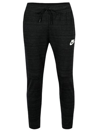 Tmavosivé pánske melírované standard fit tepláky Nike