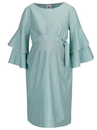 Rochie alb & verde cu model in dungi pentru femei insarcinate - Mama.licious Nelia