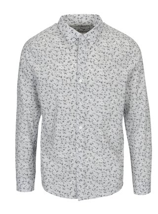 Camasa slim fit alba cu print abstract - ONLY & SONS Newton