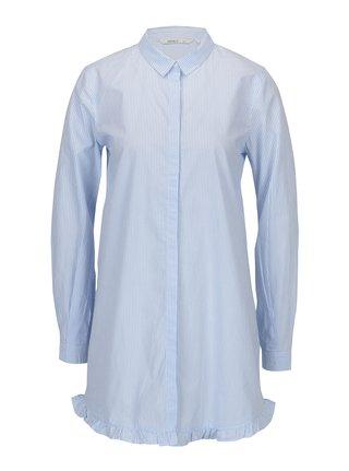 3b38e3f4420 Bílo-modrá dlouhá pruhovaná áčková košile ONLY Monique