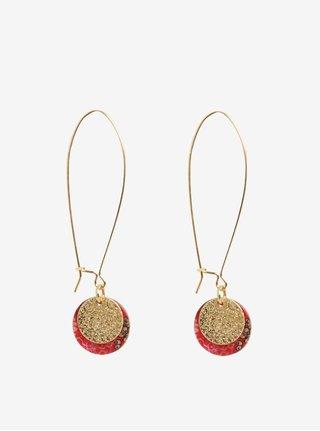 Cercei lungi rosu cu auriu  Desigual Colette