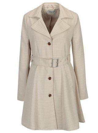 7ea6a4fcc69 Béžový žíhaný kabát s páskem ONLY Hallo