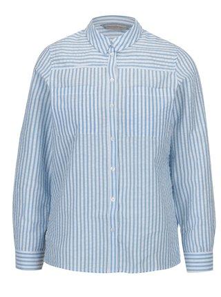 Krémovo-modrá pruhovaná košile Dorothy Perkins Petite