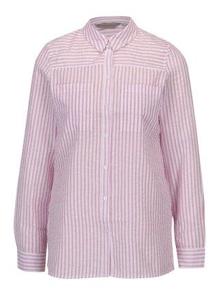 Krémovo-růžová pruhovaná košile Dorothy Perkins Petite e391455349