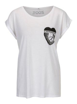 Bílé dámské tričko ZOOT Original Jsem srdcař