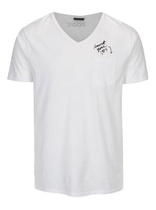 Tricou alb pentru barbati - ZOOT Original Insert your heart