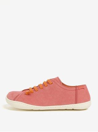 Ružové dámske kožené tenisky Camper Peu