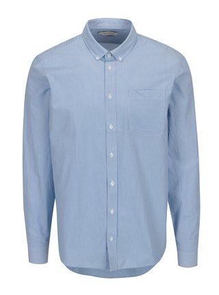 Camasa slim fit alb & bleu cu model - Casual Friday by Blend
