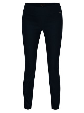 Tmavě modré elastické regular kalhoty Yest