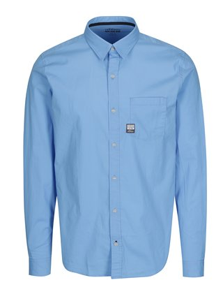 Camasa albastra slim fit pentru barbati s.Oliver