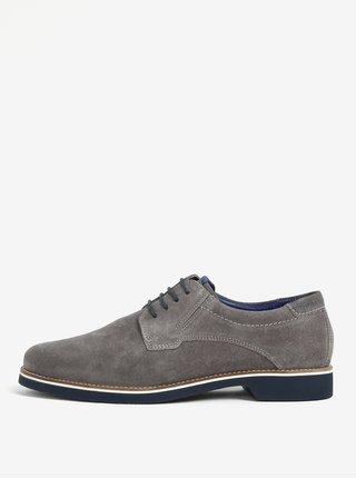 Pantofi gri din piele intoarsa - bugatti Falco