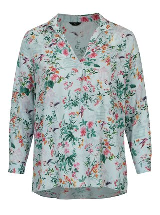 Bluza bleu cu print floral  M&Co