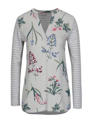 Bluza gri deschis cu print pentru femei - Tom Joule Beatrice