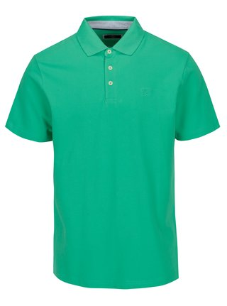 Tricou polo verde cu broderie - Hackett London Swim