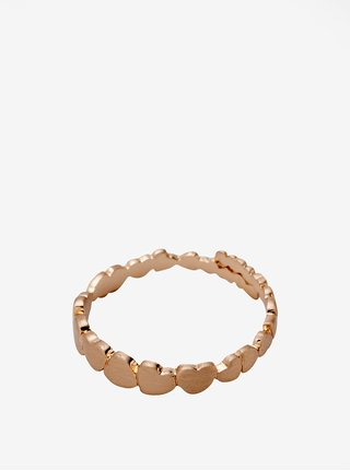 Pozlacený prstýnek v růžovozlaté barvě Pilgrim Leah