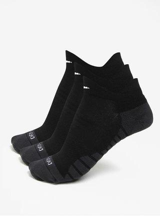 Súprava troch párov dámskych ponožiek v čiernej farbe Nike Dry Cushion Low