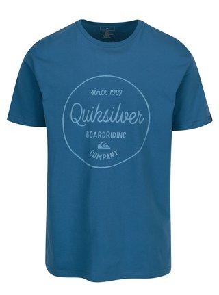 Modré pánske regular fit tričko s potlačou Quiksilver