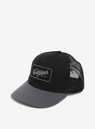 Sapca neagra cu print logo pentru barbati Quiksilver