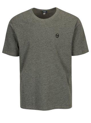 Šedé pánské tričko s výšivkou Sergio Tacchini Daiocco