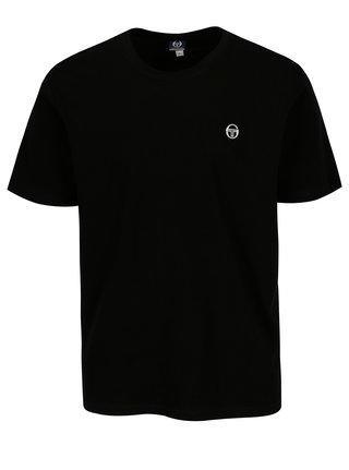 Černé pánské basic tričko s výšivkou Sergio Tacchini Daiocco