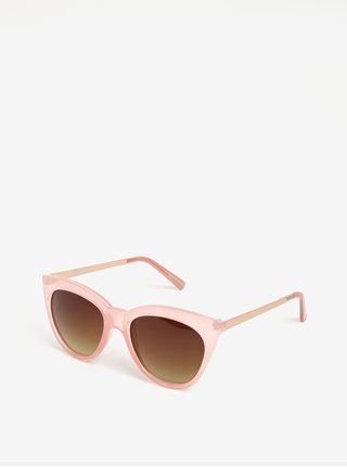 Ochelari de soare roz deschis - Pieces Melika