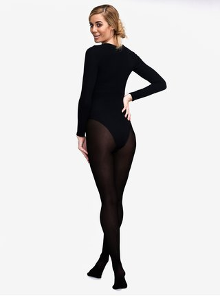 Čierne tvarovacie slim pančuchové nohavice s vysokým pásom Andrea Bucci 100 DEN