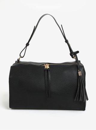 Černá kabelka se střapcem Pieces Miri