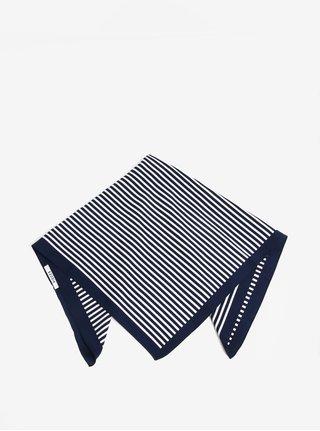 Bílo-modrý pruhovaný šátek Pieces Molly