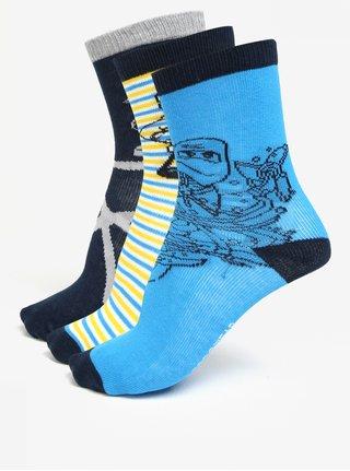 Súprava troch párov chlapčenských vzorovaných ponožiek Lego Wear Aiden