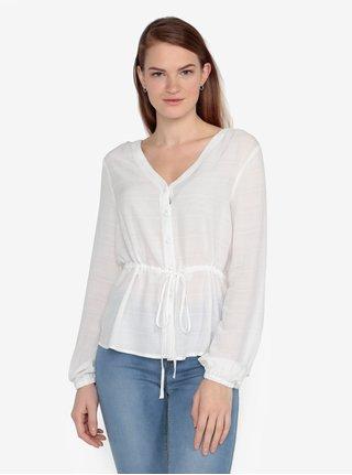 Bluza alb prafuit cu model fin - VERO MODA Sophia